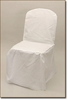 White Polyester Chair Cover