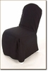 Chair Cover Banquet Polyester Black