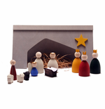 Swedish Wooden Christmas Nativity Set - 12 Pieces - Sold Out