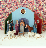 Danish Folk Art Nativity Set - Twelve Parts