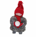 Tomte Boy with Snowball - Sold Out