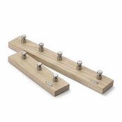 Cutter Hooks 3, Oak/Stainless Steel