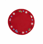 Christmas Tree Skirt - Red or Gray