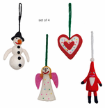 Swedish Ornaments, Set of 4
