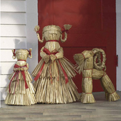 Scandinavian Straw Christmas Decorations