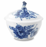 Royal Copenhagen Blue Flower Sugar Bowl, No Handles - 5 oz