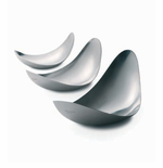 Georg Jensen Steel Leaf Bowls Gift Set 3 Pieces