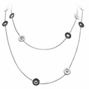 Georg Jensen Black & White Reversible Daisy Sautoir
