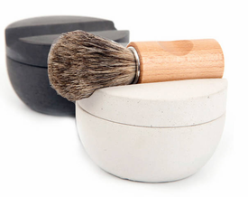 Iris Hantverk Swedish Shaving Cup Set - Badger Hair Brush & Soap - 2 Colors