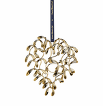 Rosendahl Mistletoe Heart Mobile, Gold
