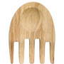 Oval Oak Hand Salad Utensil