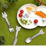 Gense Animal Friends Children's Steel Flatware