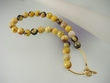 Mookaite Jasper  & Vermeil Faceted Round Beaded Necklase