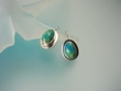 Gaspeite Oval Sterling Silver Earrings