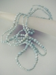 "Blue Milky  Aquamarine  72""  Long  Beaded  Necklace"
