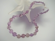 Light Amethyst & Sterling Silver Graduated Beaded Necklace
