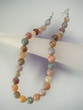 Multicolor  Faceted Round Agate & Sterling Silver Necklace