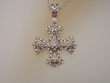 Sterling Silver & 14 Gold   with  CZ  Pendant  Necklace