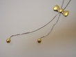 Bow Tie Sterling Silver & Gold  Necklace