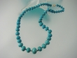 Green  Faceted Turquoise  Graduated  Beaded  & 14K Gold  Necklace