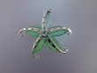 Blue / Green Starfish PIN / PENDANT