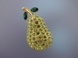 Golden Pear Brooch