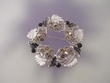 Floral  Austrian Crystal  Wreath Brooch