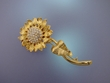 Sunflower Austrian Crystal Brooch