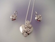 Heart Pendant  Necklace & Earrings Set