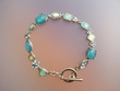 Blue Stone Bracelet with Swarovski Crystals