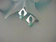 Turquoise Geometric Sterling Silver Earrings