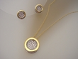 Sterling Silver Circle Necklace & Earrings