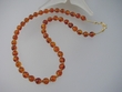 Honey  Baltic  Amber &  Vermeil  Beaded Necklace