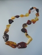 Graduated Large Amber Freeform  Beads  Necklace