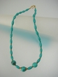 Green Turquoise & Vermeil Beaded Necklace