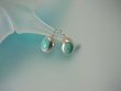 Turquoise Oval Sterling Silver  Earrings