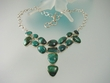 Green Turquoise Sterling Silver Necklace