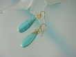 Turquoise & Vermeil  Dangal  Earrings