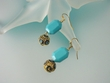 Artistic Blue Turquoise Dangle Earrings