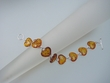 Heart  Baltic Amber Sterling Silver Bracelet
