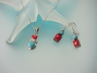 Turquoise & Coral Sterling Silver  Necklace Set