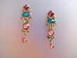 Exotic Multicolor Stone & Swarovski Earrings