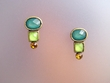 Multicolor Stone Earrings with Swarovski Crystal