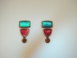 Multi- Coloured Stones & Swarovski Crystal Earrings