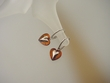 Honey Baltic  Amber Sterling Silver Heart Earrings
