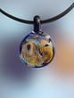 Hand Made Dichroic Glass Pendant Necklace