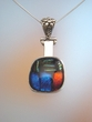 Dichroic Glass Sterling Silver Pendant Necklace