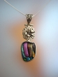 Dichroic Sterling Silver  Pendant Necklace