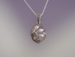 Marcasite & Freshwater Pearl Pendant  Necklace