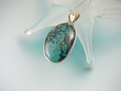 Large Turquoise Sterling Silver  Pendant Necklace